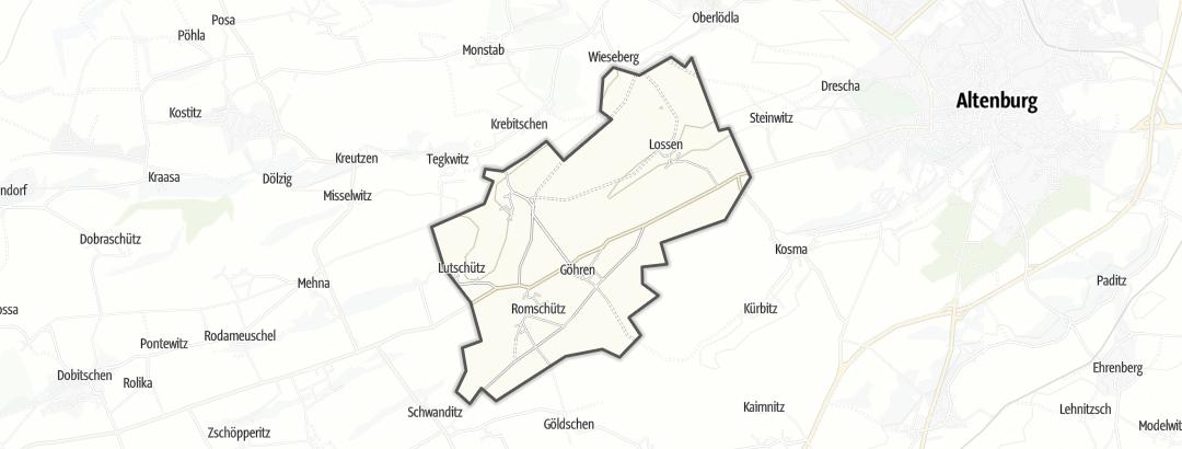 Kartta / Retkeilyreitit kohteessa Göhren