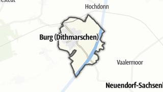 Mapa / Burg (Dithmarschen)