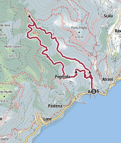 Map / Amalfi - La Valle delle Ferriere