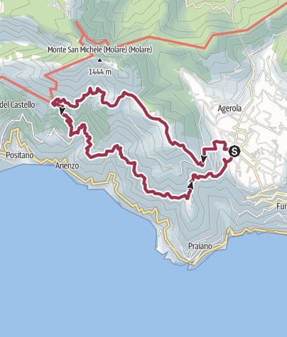Karte / Wanderung hoch über der Amalfiküste