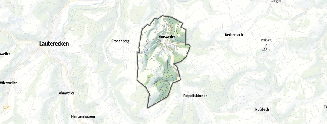 Kart / Sykkeltur i Ginsweiler