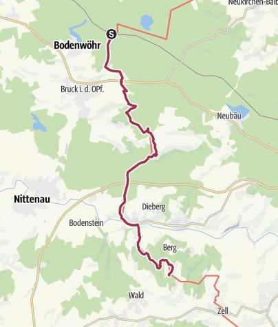Karte / Goldsteig S9, S10, S11 Blechhammer nach Riesen