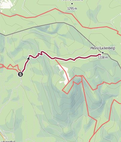 Karte / Wanderung zu den Kahlschlägen am Lackenberg