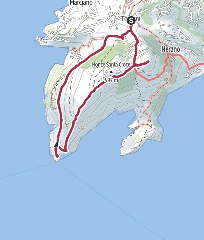 Map / Küstenwanderung am Punta Campanella