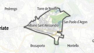 Hartă / Albano Sant'Alessandro