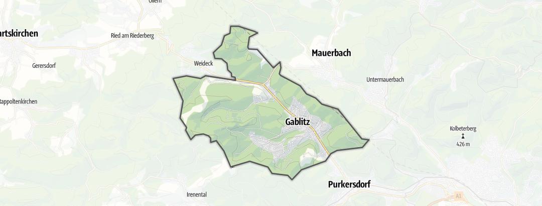 Mapa / Trilhas de caminhada em Gablitz
