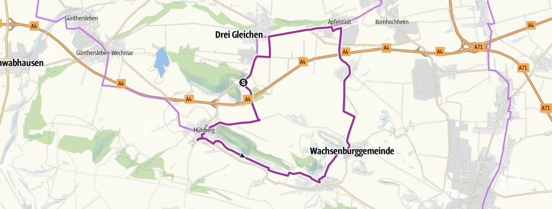 Karte / Rund um Dreigleichen