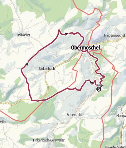 Karte / lettweiler höhe rundtour 15 km