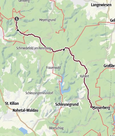 Topographische Karte Thüringen.Deutschland A Z 31 Wde Schmücke Masserberg Fernwanderweg