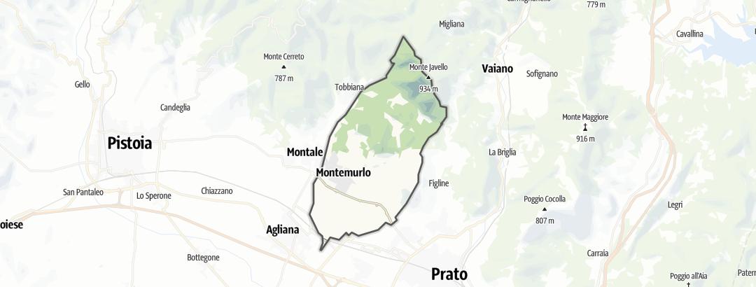 Mapa / Pochody v oblasti Montemurlo