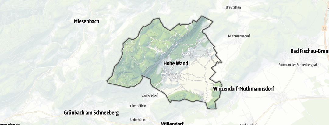 Map / Accommodation in Hohe Wand