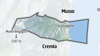 Hartă / Pianello del Lario