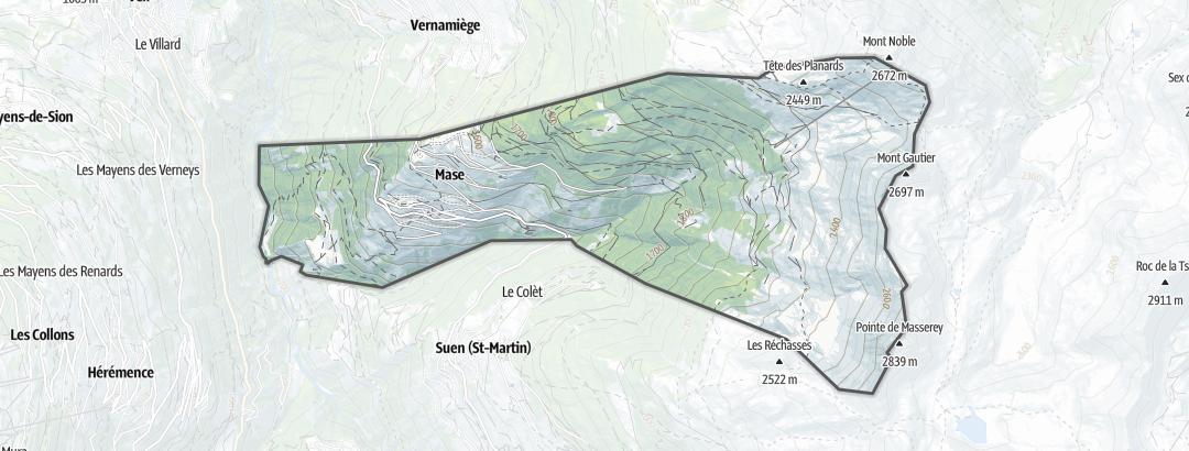 Térkép / Túrázás,  Mase területén