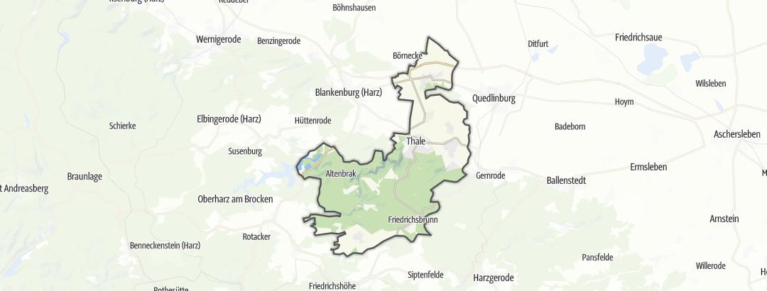Hartă / Pelerinaje in Thale