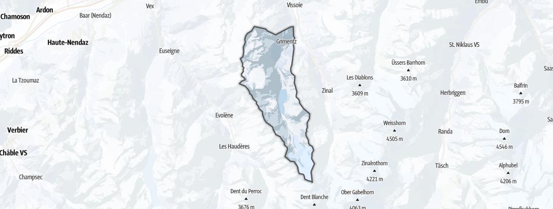 Map / Winter hikes in Grimentz