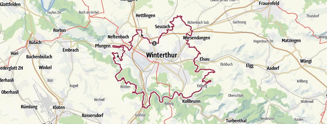 Mapa / Rund w e g Winterthur