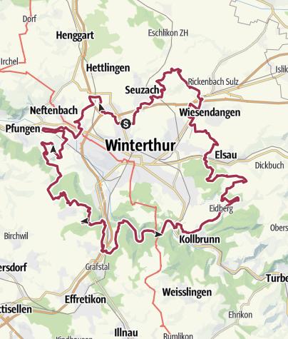Mappa / Rund w e g Winterthur