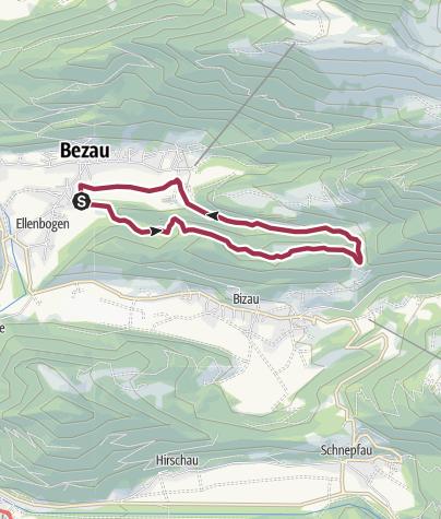 Karte / Bezauer Rimsgrundrunde