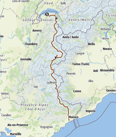 Map / Geneve to Nice, Summer 2015