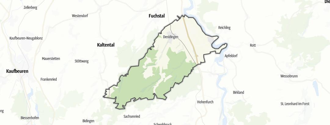 Карта / Походы на дальние расстояния в Denklingen