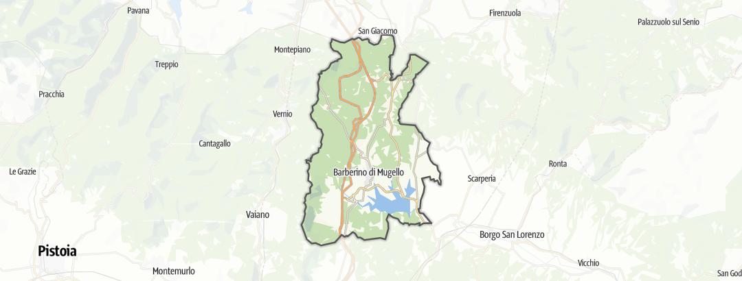 Mapa / Poutě v oblasti Barberino di Mugello
