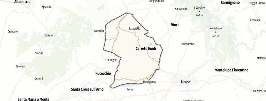 Mapa / Poutě v oblasti Cerreto Guidi