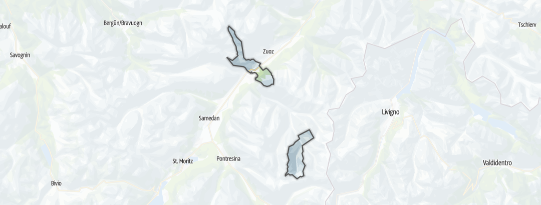 Mappa / Cicloturismo a Madulain