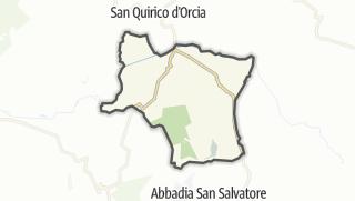 מפה / Castiglione d'Orcia