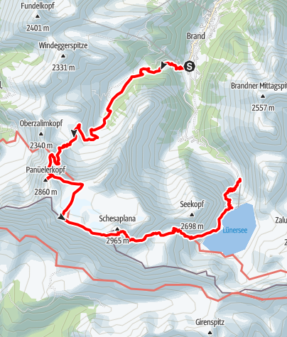 Karte / Über die Schesaplana