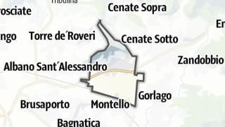 Hartă / San Paolo d'Argon