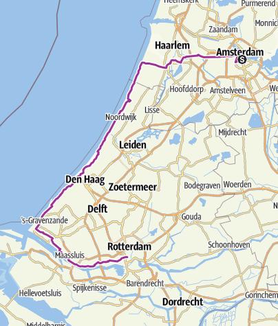 Karte / E01_Rheintour 2015 - Amsterdam - Rotterdam
