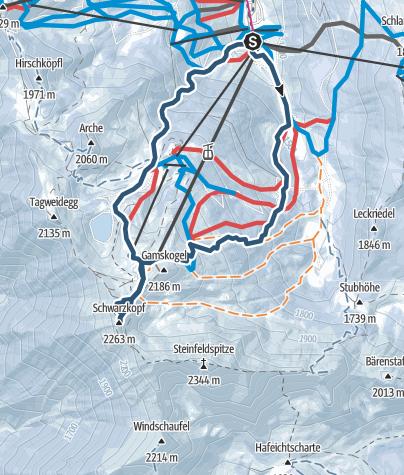 Karte / Schwarzkopf 2263m
