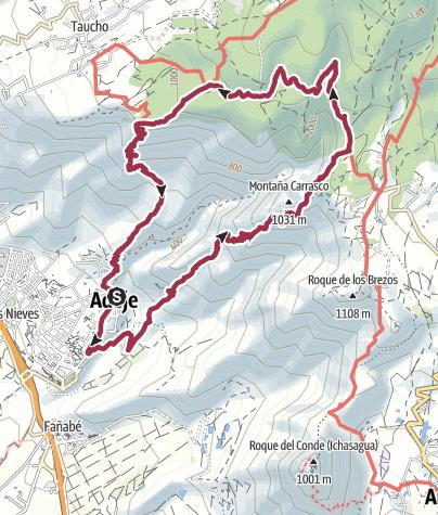 Karte / Rund um das Barranco del  Infierno