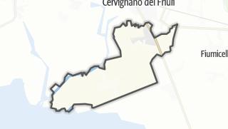 מפה / Terzo d'Aquileia
