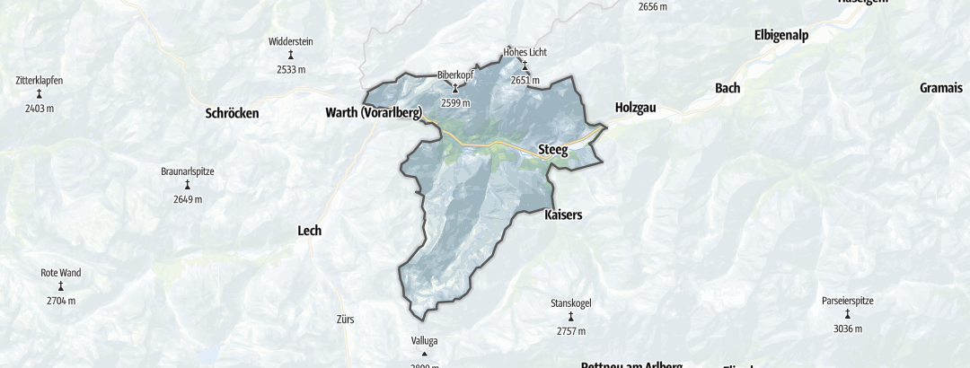 Map / Mountain hikes in Steeg