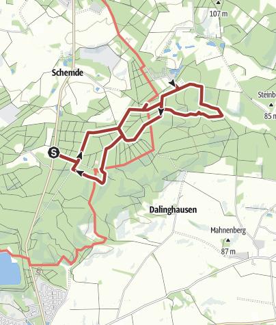 Karte / Waldlehrpfad Dammer Berge