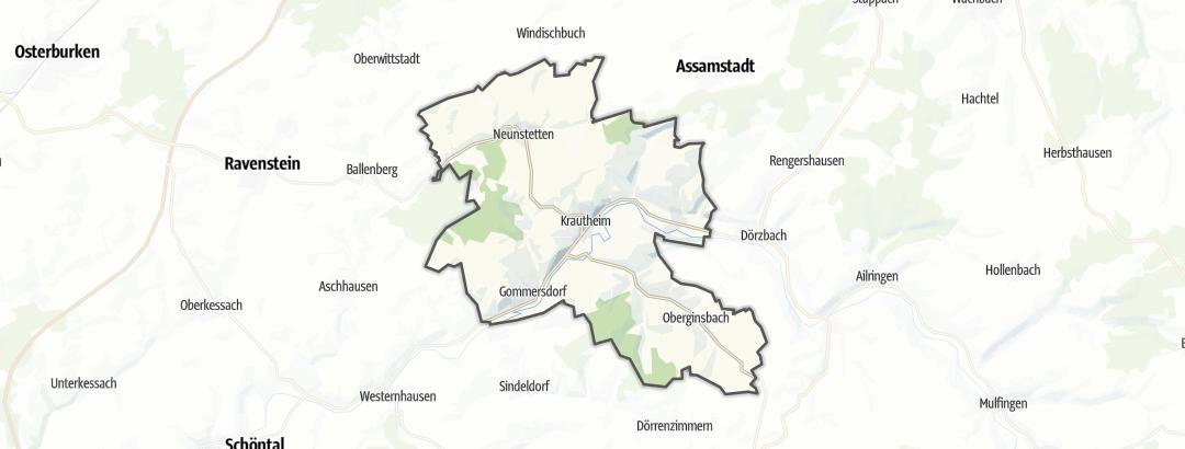מפה / טיולי אופניים ב Krautheim