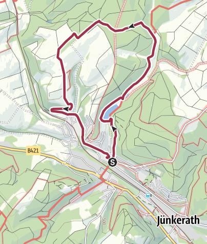 Karte / Wanderweg J3 Stausee, Fernblicke und Burgruine