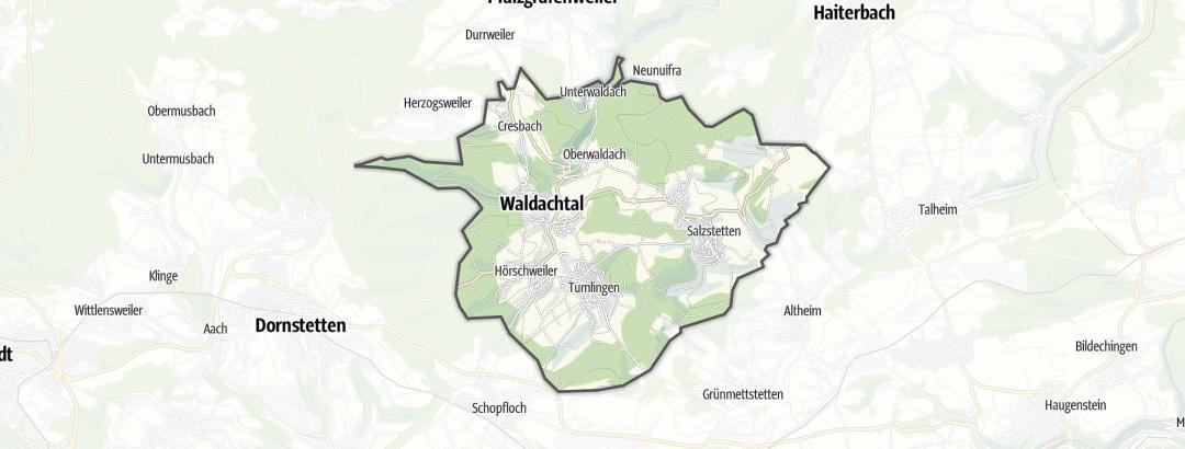 Mapa / Gastronomia em Waldachtal