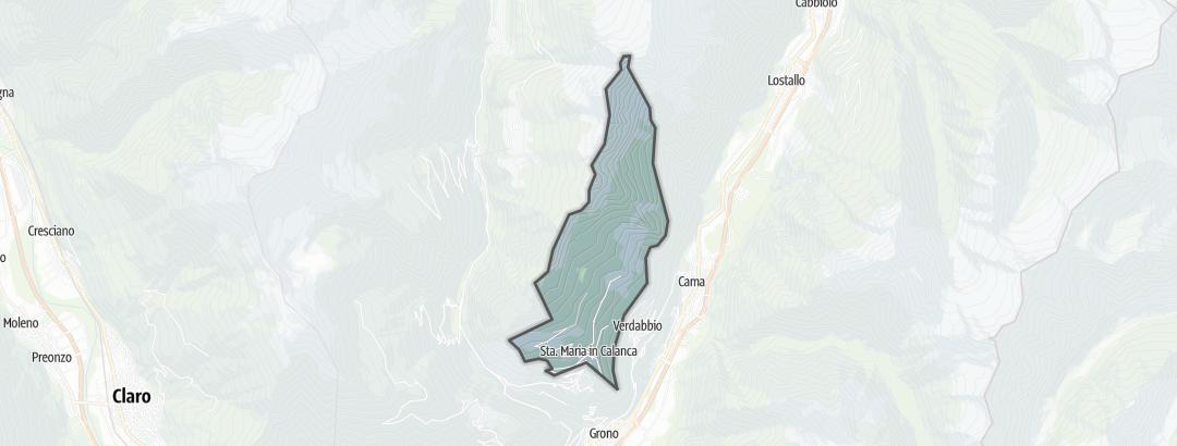 Térkép / Gyalogtúrák,  Santa Maria in Calanca területén