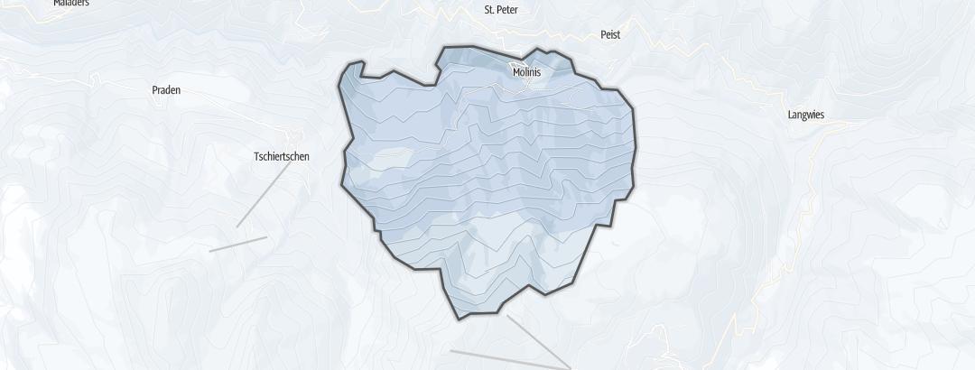Mapa / Rutas de senderismo de invierno en Molinis