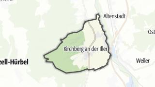 Karte / Kirchberg an der Iller