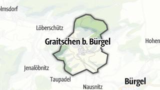 Karte / Graitschen bei Bürgel