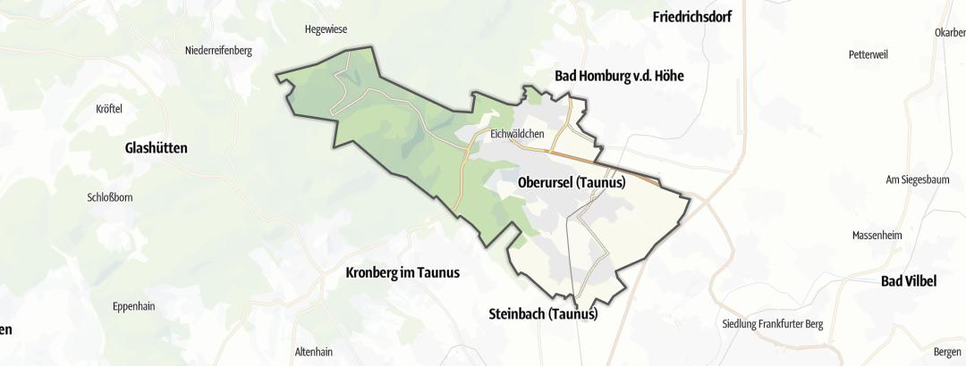 Mappa / Trekking a Oberursel (Taunus)