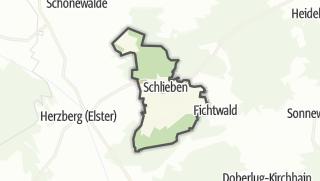 Hartă / Schlieben