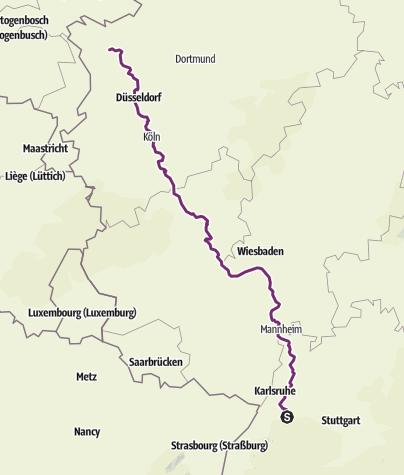 Karte / Von Keltern nach Xanten