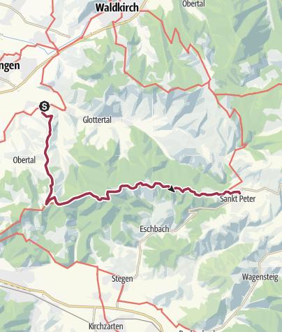 Karte / Von Heuweiler nach St. Peter