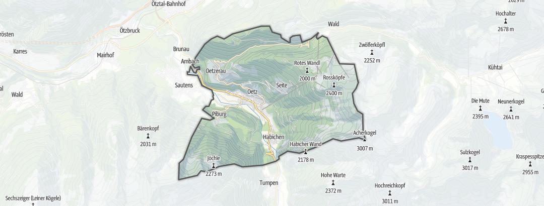 Térkép / Gyalogtúrák,  Oetz területén