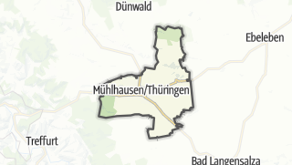 Cartina / Mühlhausen/Turingia