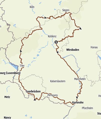 Map / Rheinlandpfalz 2015 umrunden